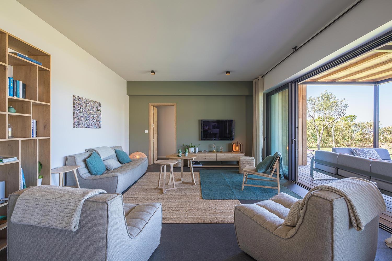 Casa Grazia | Salon detente - Location Villa de luxe à Propriano en Corse