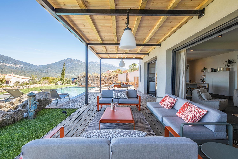 Casa Grazia | Salon jardin - Location Villa de luxe à Propriano en Corse