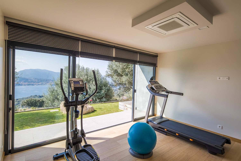 casa lilia villa luxe propriano corse salle de sport