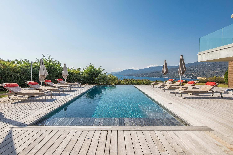 casa lucia villa luxe propriano corse piscine vue mer montagne